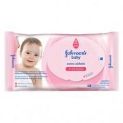 Toalhas Umedecidas Johnsons Baby Extra Cuidado 48 Unidades
