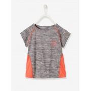 T-shirt de desporto, com mangas curtas e estrela, para menina cinzento medio mesclado