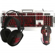 Kit Gamer Multimedia Teclado Mouse Audifonos Microfono Marvo