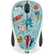 Mouse Wireless Logitech M238 Doodle Collection BAE-BEE BLUE USB