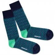 DillySocks Socken 'Under Water Lines' blau / grün / schwarz 41-46