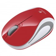 Logitech M187 Wireless Mouse Piros