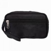 Modish Designs Multipurpose Zipper Closure Black Color Toiletary/Cosmetic/Shaving/Travelling Small Bag Travel Toiletry Kit(Black)