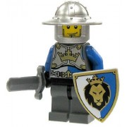 LEGO Castle LOOSE Minifigure Kings Knight with Brimmed Helm, Sword & Shield