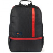 Protecta Right Angle Laptop Backpack for Laptops with Screen Size up to 15.6 inch. (Black & Red)
