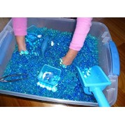 Kids Tactile Sensory Experience - Jelly BeadZ 3 Color-Blue-Water Bead Gel 3 Pks of 10 Grams Per Pack. Sea Creatures Not Included