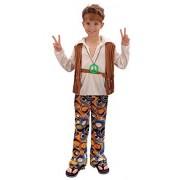 Bristol Novelty Disfraz de Hippy para niño, Multicolor, Age 8 10 Years Old