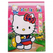 Carte de colorat Hello Kitty Chitara