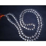 Natural Pearl Crstal IGL Certified Stone Crystal Mala By Jaipur Gemstone