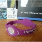 Balanční náramek s hologramem Power Balance - fialový-bílý
