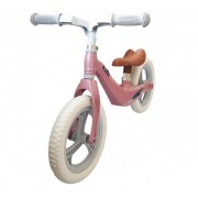 Bicicleta fara pedale 12 inch roz inaltime reglabila si roti Eva