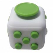 6-Sided Cube Dice dedo juguete - Blanco + Verde