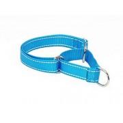 Paramise Collar de nailon reflectante ajustable para entrenamiento de perro martingala. Sin tirones de tamaño pequeño a extragrande, azul, S