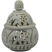 Elephant Carved Handmade Jar With Carving Work Best Gift Item