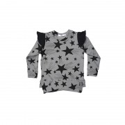 Bluza Stars - detaliu negru, 2-4 ani