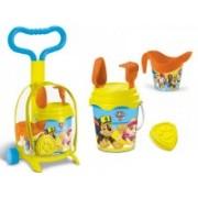 Troller cu ghiozdanel Paw Patrol Mondo pentru copii cu jucarii plaja si galetusa