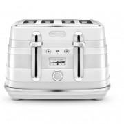 DeLonghi CTA4003.W 4 Slice Avvolta Toaster - White