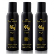 Royal Mirage Body Spray Night- Pack of 3 200ml