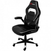 Mars Gaming SILLA GAMER MGC117BW COLOR NEGRO/BLANCO ASIENTO RECLINABLE BRAZOS ABATIBLES