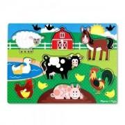 Дървен пъзел Ферма, Melissa and Doug, 000772190503