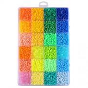 Fuse Beads,ITOY&IGAME Fusion Beads Kit 0.1inch 24 Colors 12000pcs Fuse Beads Multi-Color Fun Fusion Beads Children DIY Craft Toys