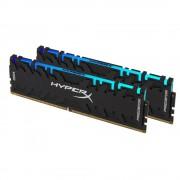 DDR4, KIT 16GB, 2x8GB, 3600MHz, KINGSTON HyperX Predator RGB, CL17 (HX436C17PB4AK2/16)