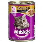 Whiskas 1+ años en lata 24 x 400 g - Pack mixto en gelatina: salmón y pollo