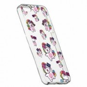 Husa Silicon Transparent Slim Fat Unicorn Apple iPhone 5 5S SE