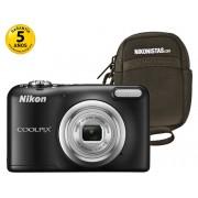 Nikon Cámara Compacta NIKON Coolpix A10 (Negro - 16.1 MP - ISO: 80 a 1600 - Zoom Óptico: 5x)