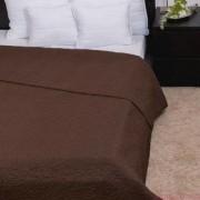CLARA csokoládébarna / márvány steppelés ágytakaró 235x250 cm