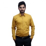 Tooley Men's Cotton Yellow / party wear shirts /Full sleeve shirts/ Printed shirts Regular Fit Formal Shirt for