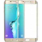Folie protectie sticla securizata Samsung Galaxy S6 Edge curbata fata spate Gold