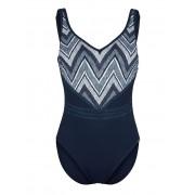 Sunflair Badeanzug mit ZickZack-Dessin, blau