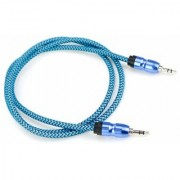 LORD OF GADGETS AUX AUDIO NYLON BRAIDED 1000 MM CABLE WITH SUPER DEEP HIGH BASS DIGITAL MUSIC SOUND ANDROID DEVICES