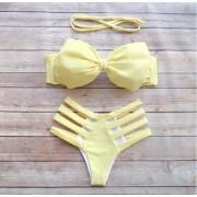 Costum de baie cu benzi la slip si fundita la sutien SunShine
