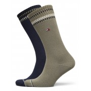Tommy Hilfiger Th Men Sock 2p New Pete Underwear Socks Regular Socks Grön Tommy Hilfiger