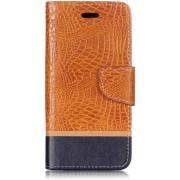 Mobigear Krokodil Leather Wallet Hoesje Oranje Xiaomi Mi A2 Lite