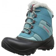 Columbia Girls' Youth Rope Tow III Waterproof Snow Boot, Iceberg, Camellia Rose, 1 Regular US Little Kid