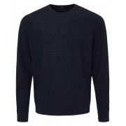 Peter Hahn Rundhals-Pullover aus 100% Schurwolle-Merino Peter Hahn blau