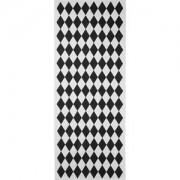 JOX Jox Textile, Matta i bomull, 70 x 180 cm, Ruter, Svart/Vit Mattor