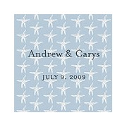 Starfish Background Favor / Place Cards