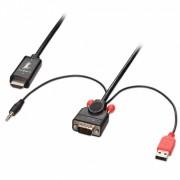 Cablu convertor VGA la HDMI cu audio+alimentare USB 2m, Lindy L41706