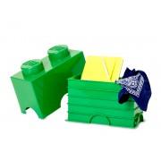 40021734 Cutie depozitare LEGO 2 verde inchis