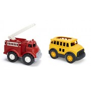 Maven Gifts: Green Toys Fire Truck With Green Toys School Bus