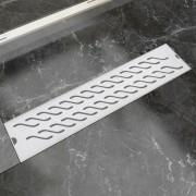 vidaXL Rigolă duș liniară, model ondulat, oțel inoxidabil, 530x140 mm