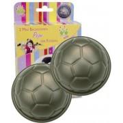 Städter Set van 2 mini voetbal bakvormen