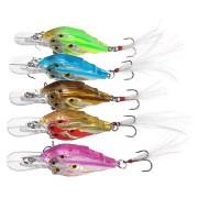 ZANLURE 5Pcs/Set 7cm 6.2g Fishing Lure Crankbaits Hook Fish Crank Tackle Lipless Swimbait Hard Lures
