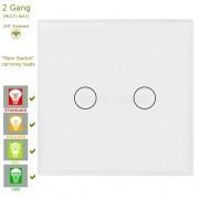 Сензорен ключ за осветление с WiFi контрол - 2 бутона (3 цвята)