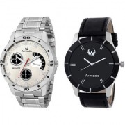 Armado AR-SL-7193 Beautiful Combo Of 2 Analog Watches-For Men