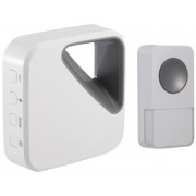 OPTEX 990162 Bezdrátový designový barevný zvonek bílá/šedá s dlouhým dosahem